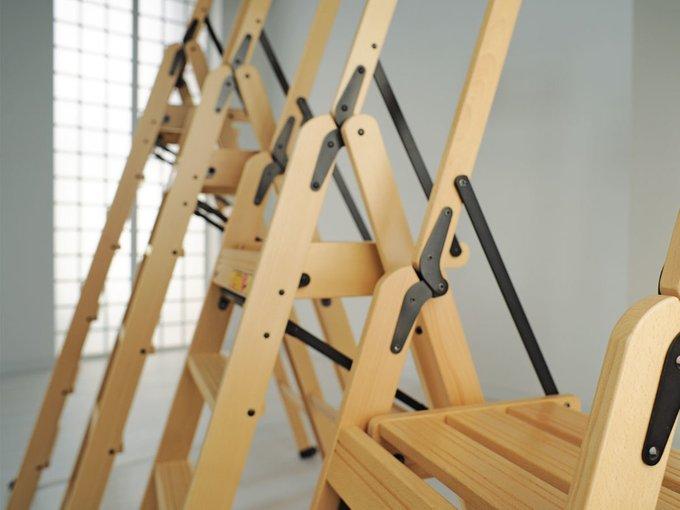 Лестница-стремянка на три ступеньки Lascala 3 naturale цвет натуральный