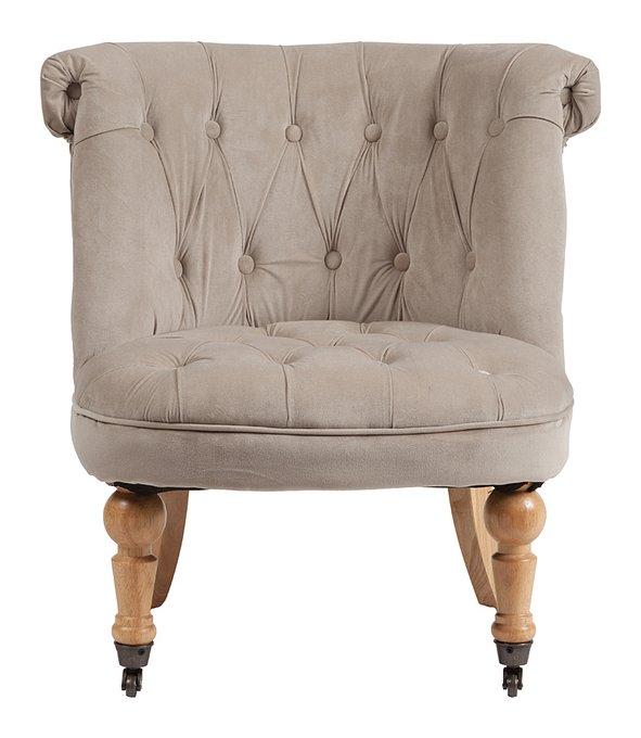 Кресло Amelie French Country Chair серо-бежевого цвета