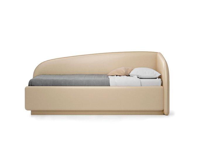 Кровать Amelia бежевого цвета с решеткой 90х190