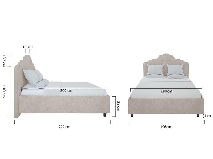 Кровать Palace Велюр Бежевый 180x200