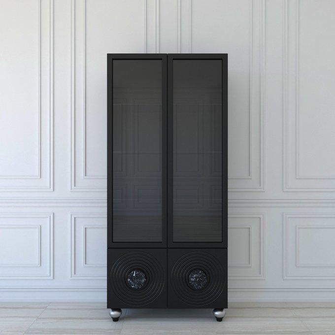 Витрина Bobbio Luce L черного цвета