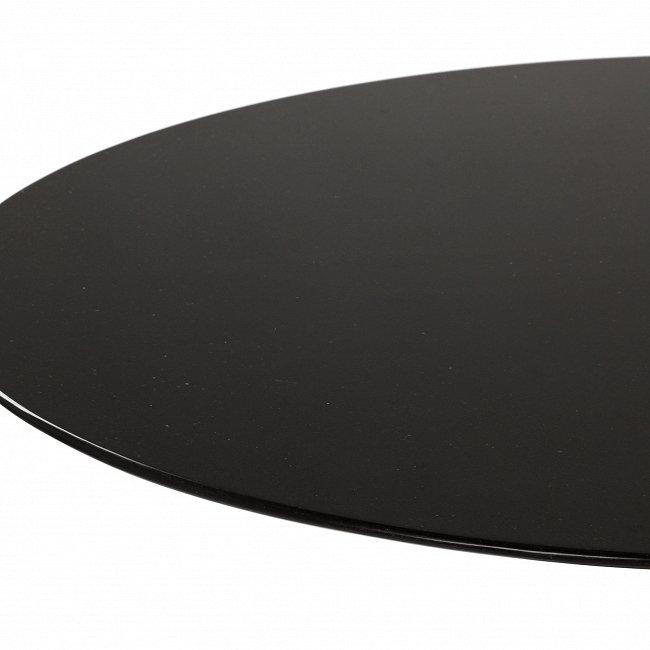 Стол обеденный круглый черного цвета