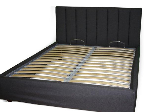 Кровать Клэр черного цвета 140х200 с ящиком для хранения