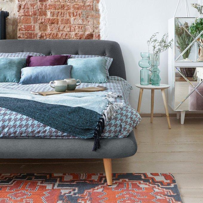 Кровать Loa светло-серого цвета 160x200