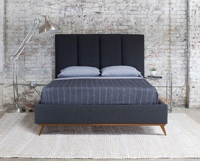 Кровать Carter Sky голубого цвета 160х200