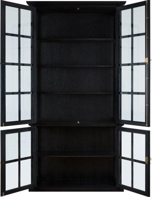Шкаф кабинетный четырехдверный black