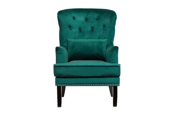Кресло с подушкой зеленого цвета