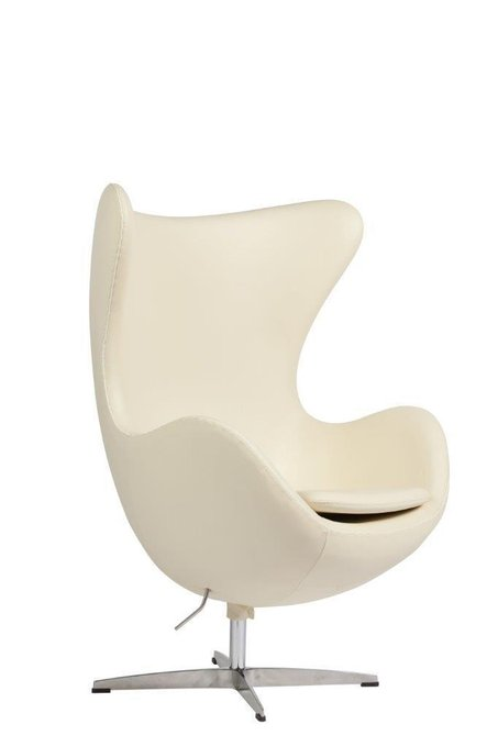 Кресло Egg Chair кремового цвета