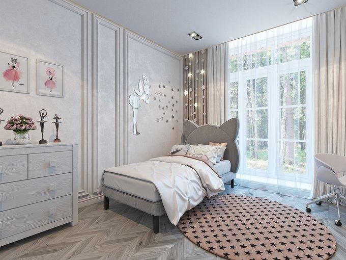 Кровать Kitty бежевого цвета 90х200