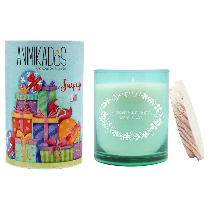 Свеча ароматическая Surprise бирюзового цвета