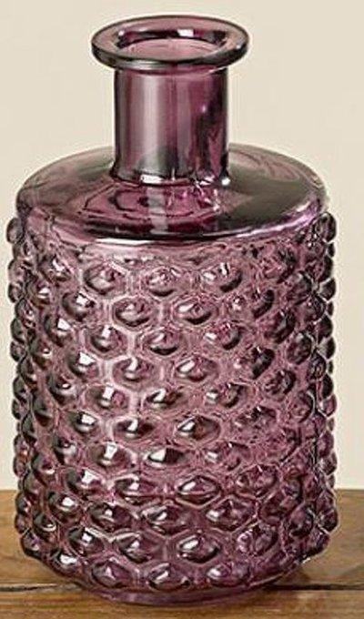 Ваза Leoni из пурпурного стекла