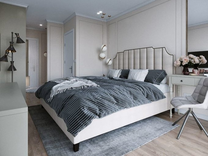 Кровать Даллас 160х200 серого цвета  с подъемным механизмом