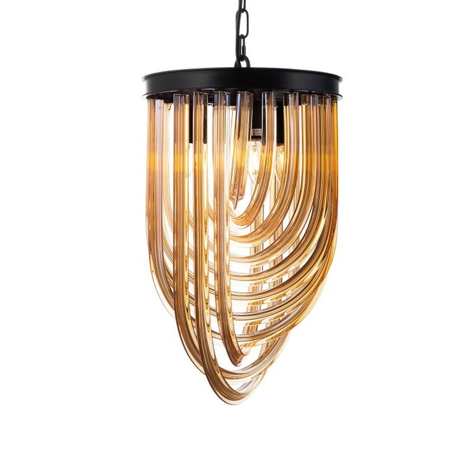 Подвесная люстра Murano из металла и стекла