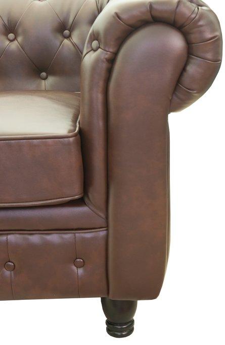 Кожаный диван Chesterfield brown