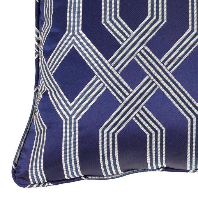Подушка Fontaine синего цвета