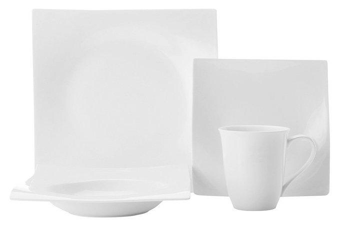 Набор обеденный Движение в подарочной упаковке белого цвета
