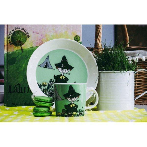 Кружка Moomin Снусмумрик зеленого цвета