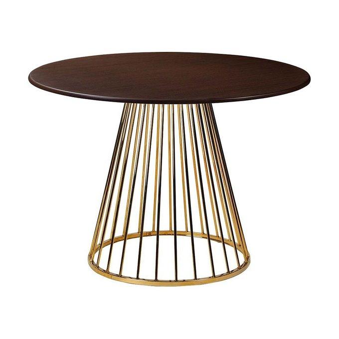 Обеденный стол Twister Matte Gold венге