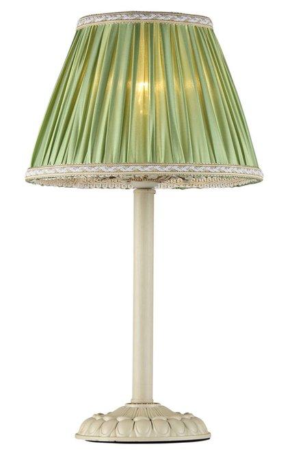 Настольная лампа Olivia с абажуром оливкового цвета