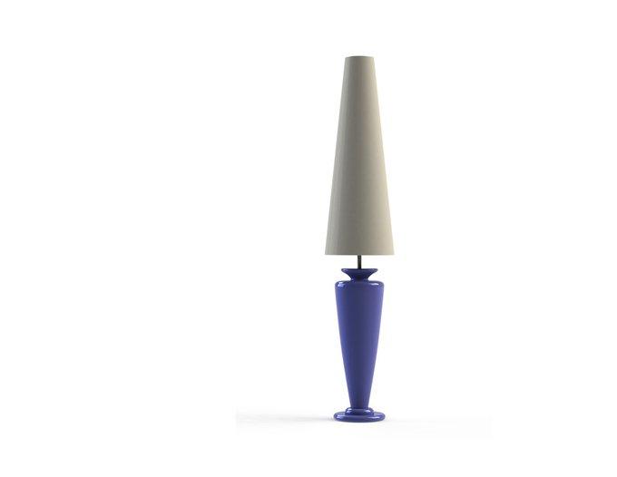 Торшер AURIGA Floor Violet с абажуром из ткани