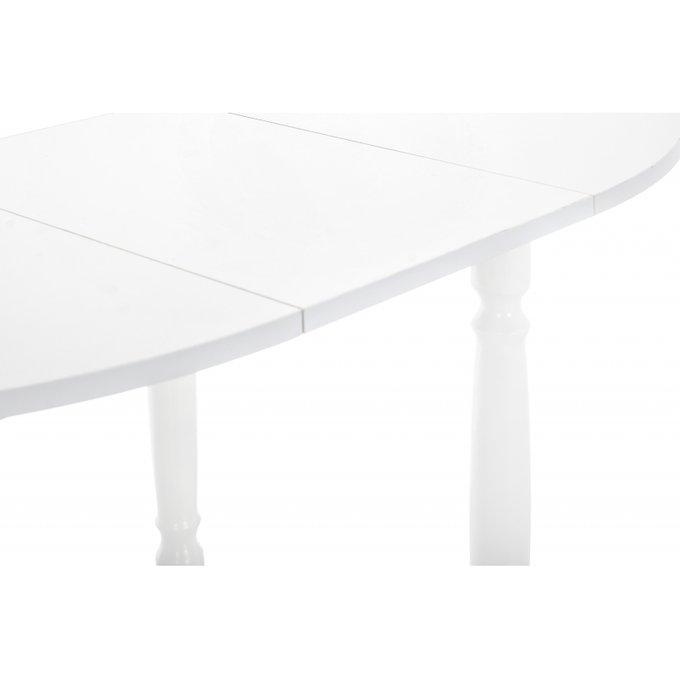 Обеденный раскладной стол Аттер белого цвета