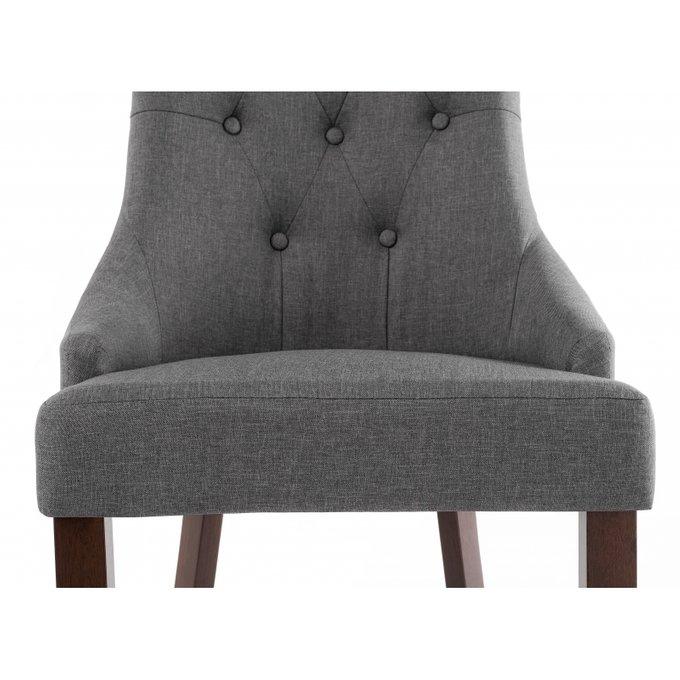 Стул Elegance dark walnut fabric grey серого цвета