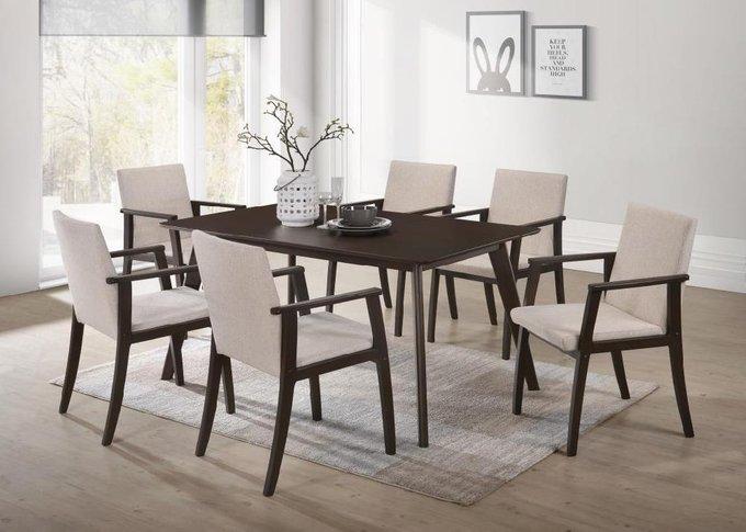 Стол обеденный с каркасом из массива гевеи