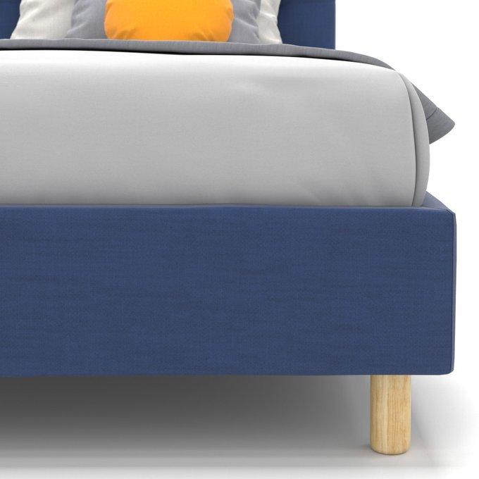 Односпальная кровать Avery синего цвета 80х160