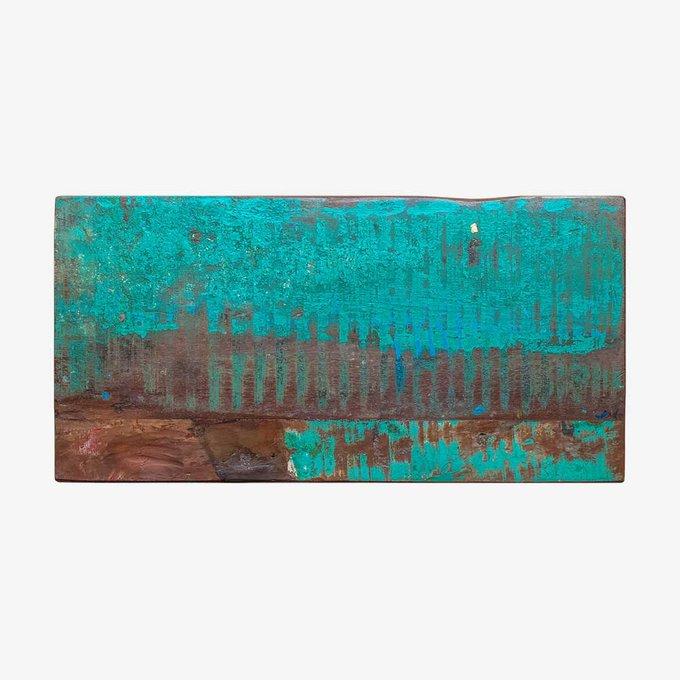 Скамья Сахаров коричнево-голубого цвета