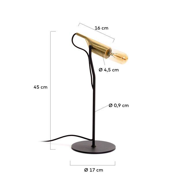 Настольная лампа Cinthya с золотым цоколем