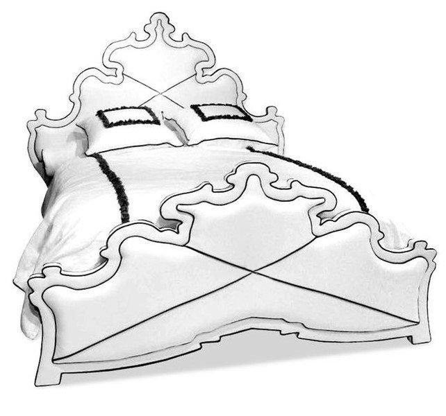 Кровать Achromatic белого цвета 180х200