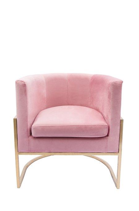 Кресло Космос на металлокаркасе розового цвета