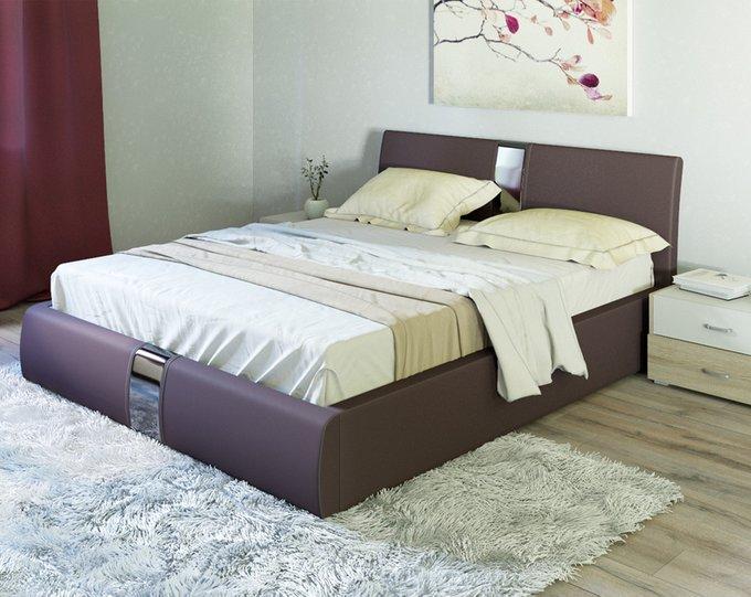 Кровать Челси коричневого цвета 160х200