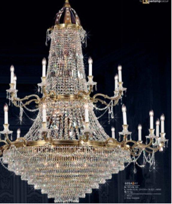 Люстра Palace с хрустальными подвесками
