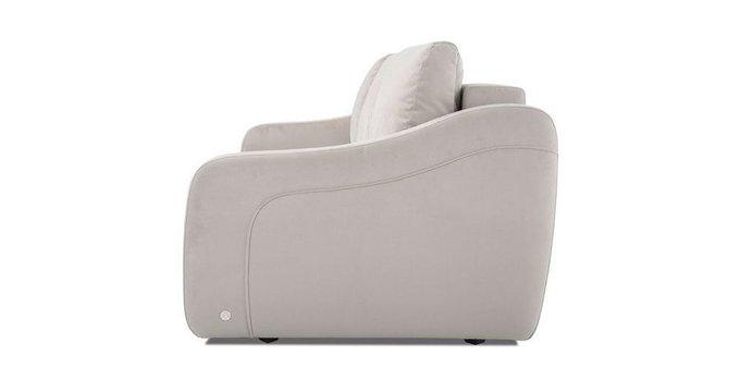 Прямой диван-кровать Иден светло-серого цвета