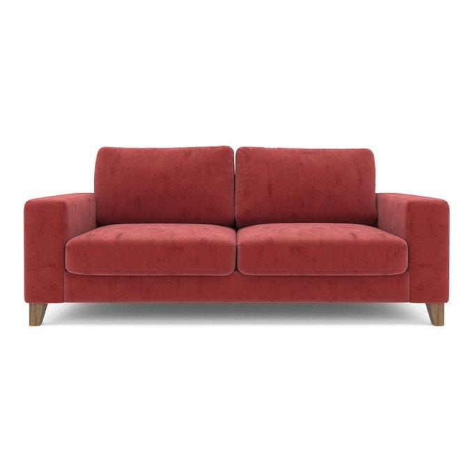 Диван Ruby ST трехместный красного цвета