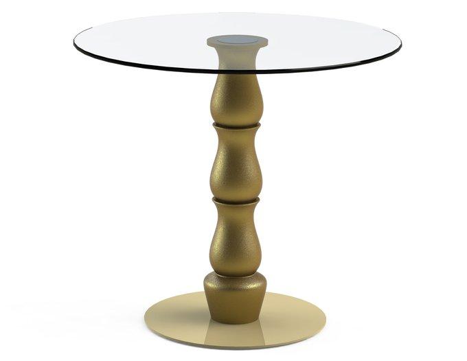 """Обеденный стол """"VESPER Gold"""" со столешницей из закаленного стекла"""