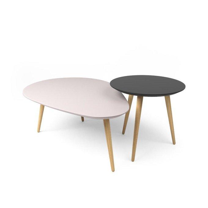 Комплект журнальных столов Scale серо-розовый
