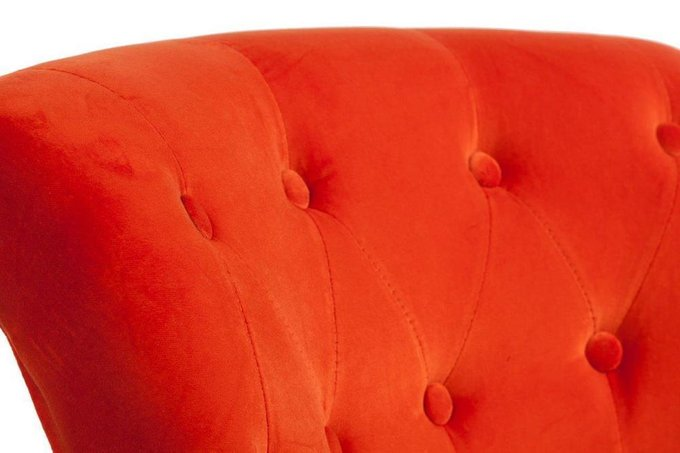 Кресло Ribbone Orange в обивке из вельвета