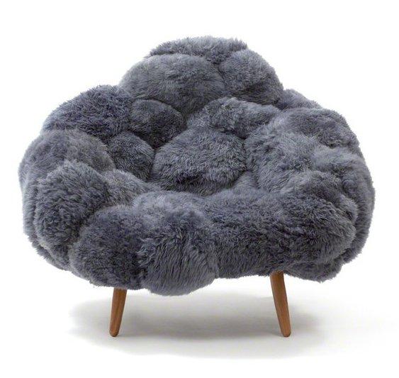 Кресло Benda серого цвета