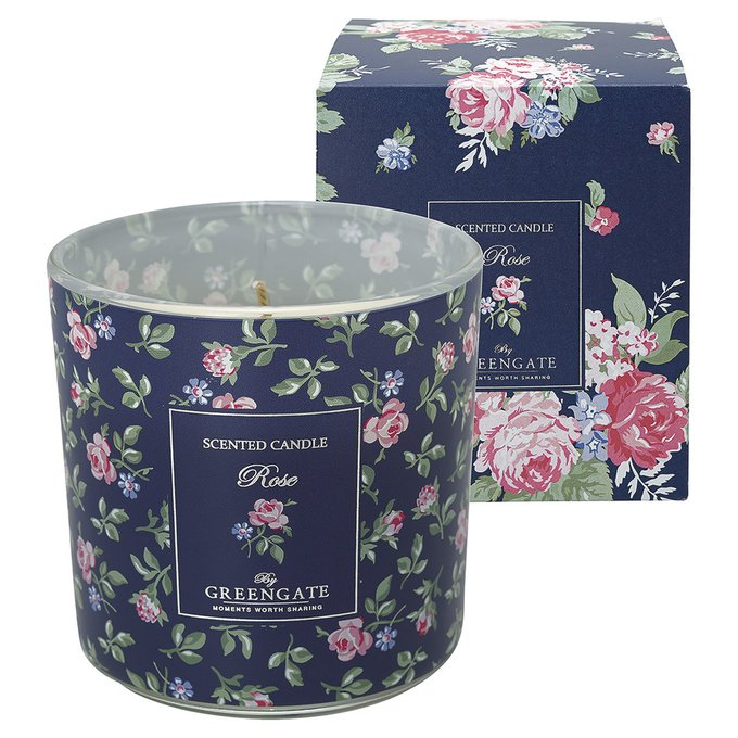 Ароматизированная свеча Rose white из стекла и воска