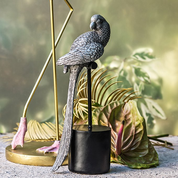 Серебристая статуэтка Kaila в виде птицы