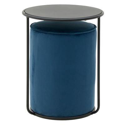 Пуфик синего цвета со столиком