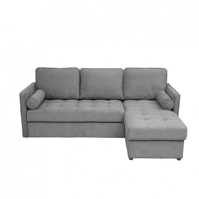Диван-кровать угловой Лорен серого цвета