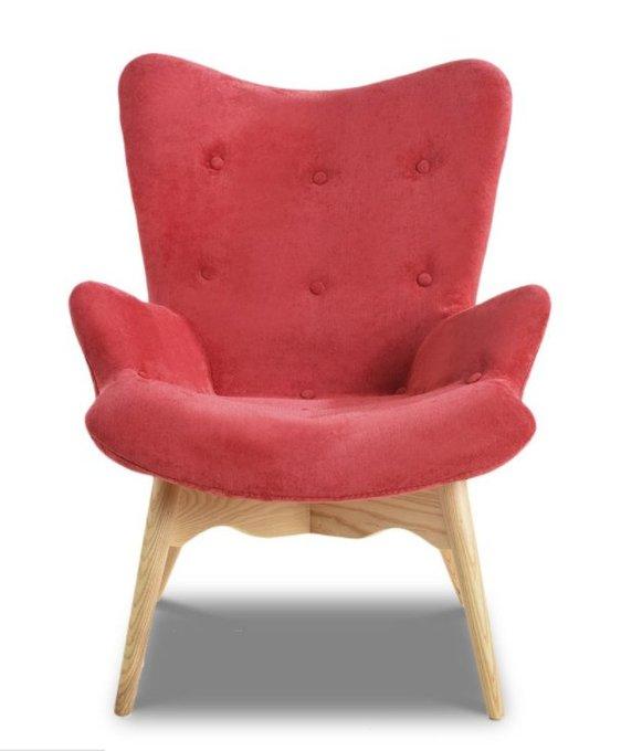 Кресло Phyllis с обивкой из ткани бордового цвета