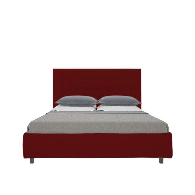 """Кровать """"Royal Black"""" Велюр Красный 160х200"""