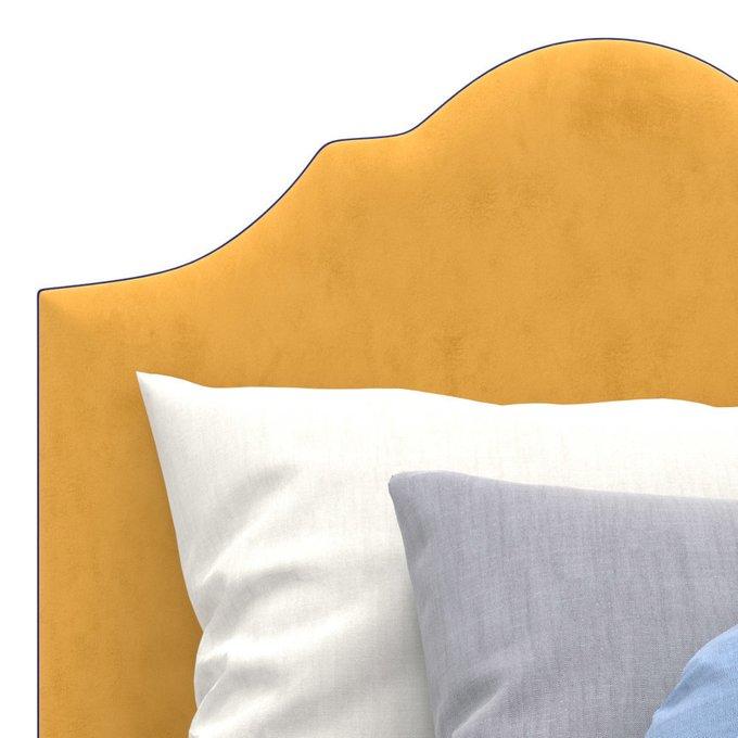Односпальная кровать Tiana желтого цвета 90х200