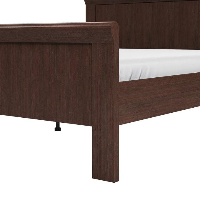 Кровать Магна 180х200 темно-коричневого цвета