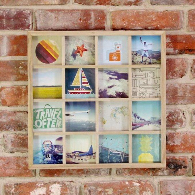 Панно для фотографий Umbra gridart орех