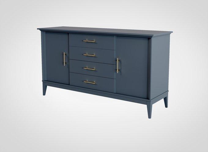 Комод Manhattan серо-синего цвета